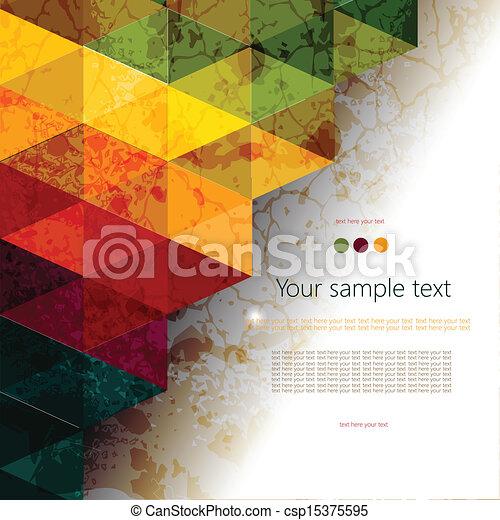 abstrakcyjny, barwny, geometryczny, tło - csp15375595