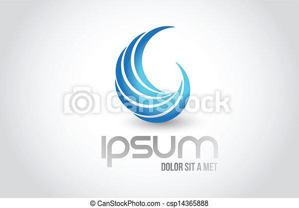 abstrakcyjny, ilustracja, machać, projektować, logo, symbol - csp14365888