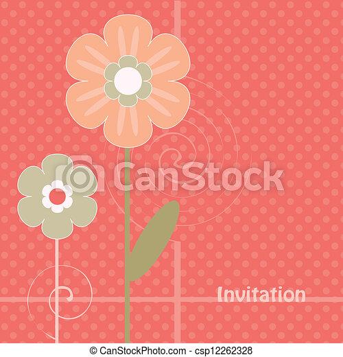 abstrakcyjny, kwiaty - csp12262328