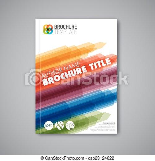 abstrakcyjny, nowoczesny, wektor, projektować, szablon, broszura - csp23124622