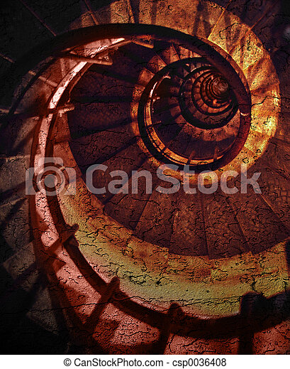 abstrakcyjny, spirala - csp0036408