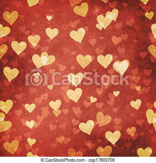 abstrakcyjny, tła, valentine, projektować, grungy, twój - csp17803700