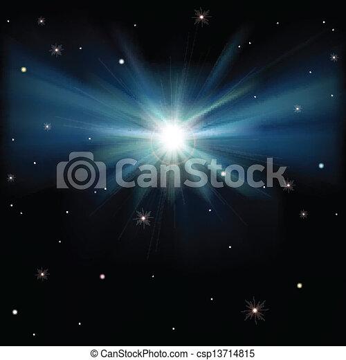 abstrakcyjny, tło, gwiazdy, przestrzeń - csp13714815