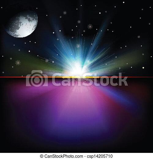 abstrakcyjny, tło, gwiazdy, przestrzeń - csp14205710