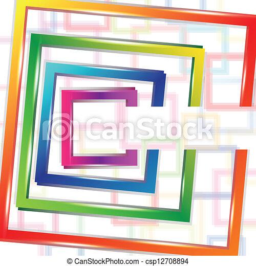 abstrakcyjny, tło, skwer - csp12708894