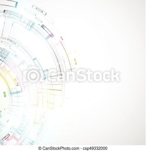 abstrakcyjny, tło, techniczny - csp49332000