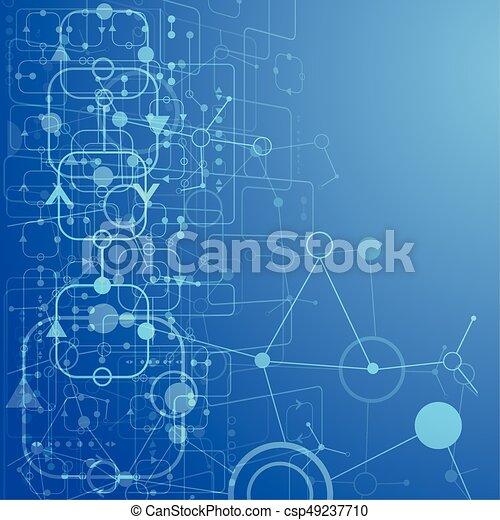 abstrakcyjny, tło, techniczny - csp49237710