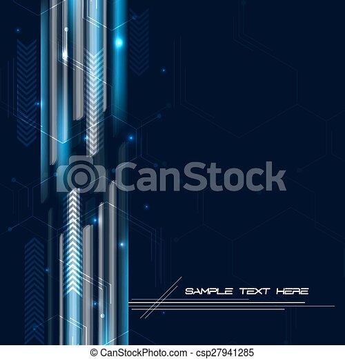 abstrakcyjny, tło, techniczny - csp27941285