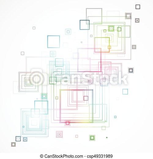 abstrakcyjny, tło, techniczny - csp49331989
