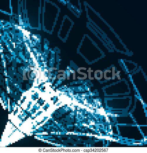 abstrakcyjny, tło, techniczny - csp34202567