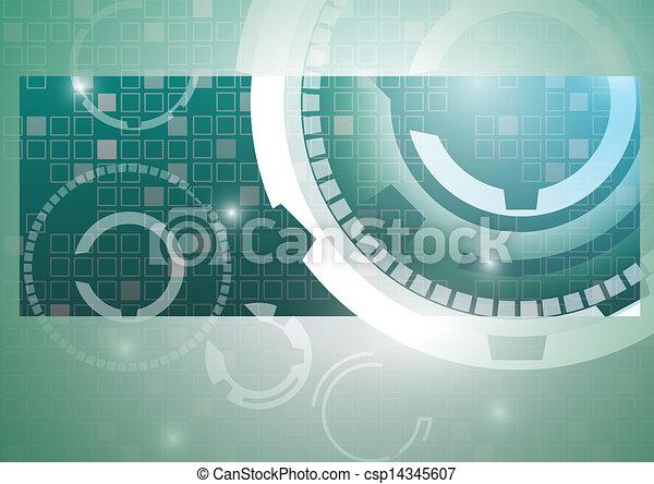 abstrakcyjny, technologia, tło - csp14345607