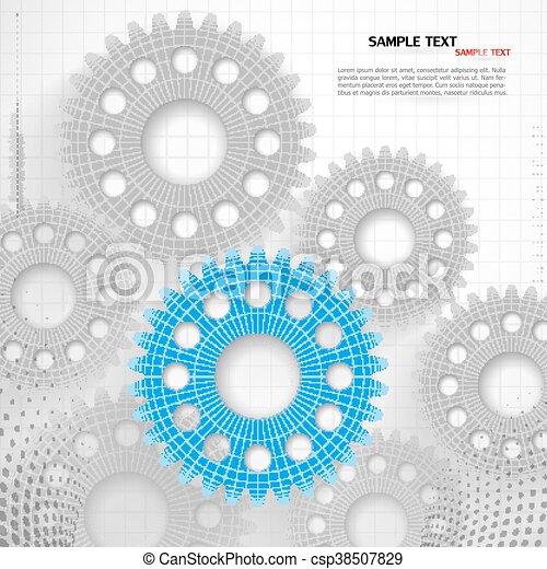 abstrakcyjny, technologia, tło - csp38507829