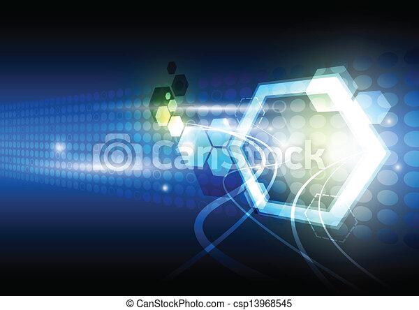 abstrakcyjny, technologia, tło - csp13968545