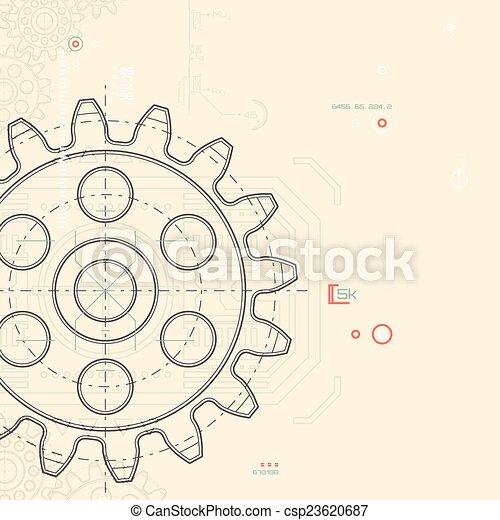 abstrakcyjny, technologia, tło - csp23620687