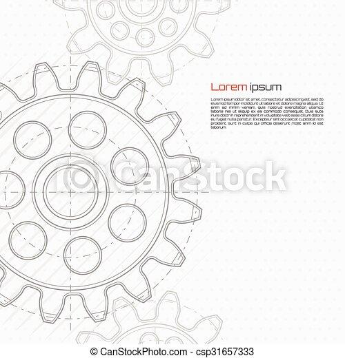 abstrakcyjny, technologia, tło - csp31657333