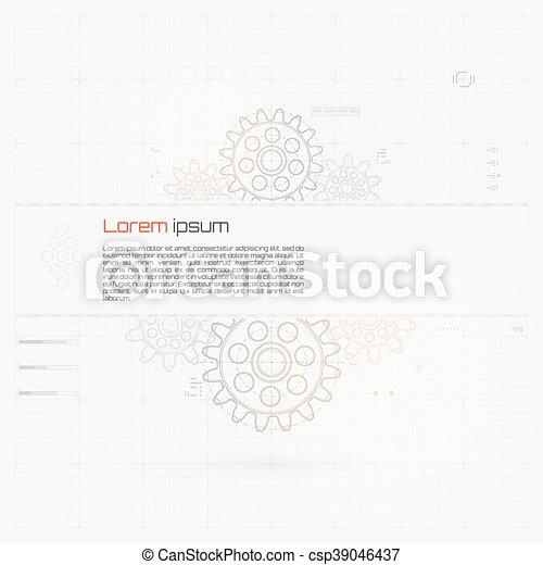 abstrakcyjny, technologia, tło - csp39046437