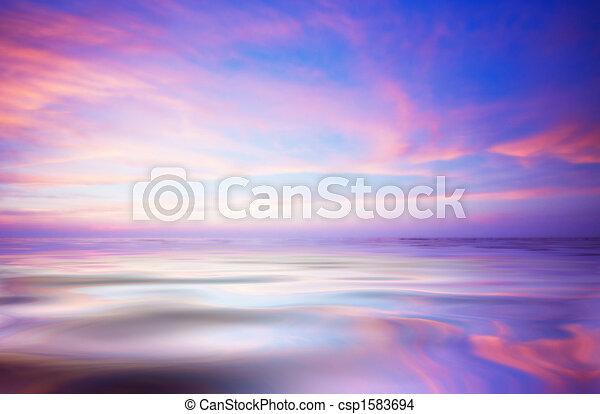 abstrakcyjny, zachód słońca ocean - csp1583694