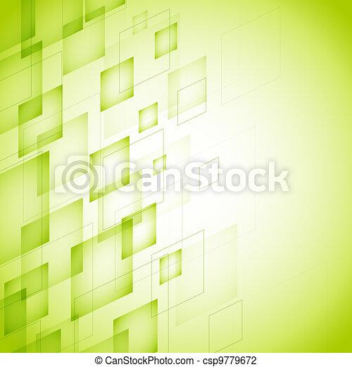 abstrakcyjny, zielone tło - csp9779672