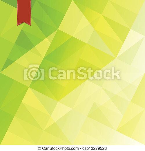abstrakcyjny, zielony, triangle, tło - csp13279528