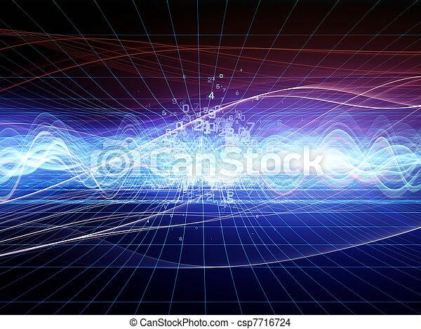 abstrakt, analysator, welle - csp7716724