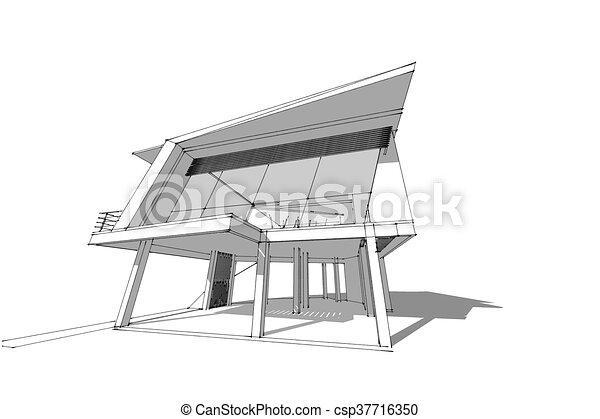 abstrakt, architektur - csp37716350