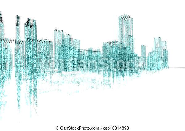 abstrakt, architektur - csp16314893