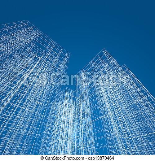 abstrakt, arkitektur - csp13870464