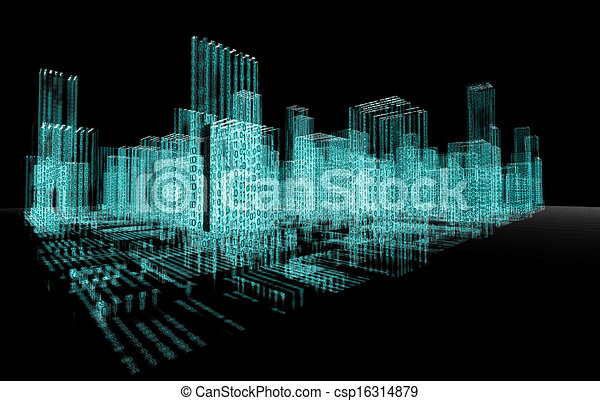abstrakt, arkitektur - csp16314879