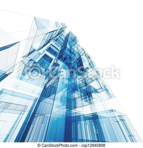 abstrakt, arkitektur - csp12845898
