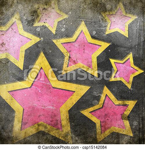 abstrakt, bakgrund, stjärnor - csp15142084