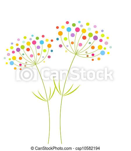 abstrakt, blomster - csp10582194