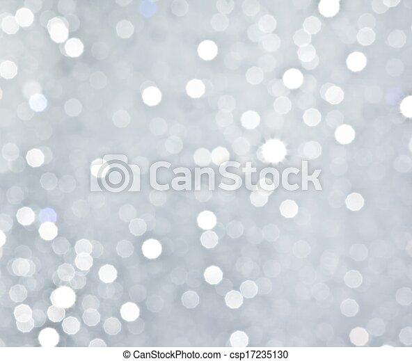 abstrakt, cirkulär, bokeh, bakgrund, silver - csp17235130