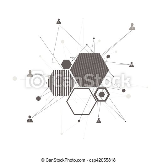 abstrakt, connection., menschliche  - csp42055818