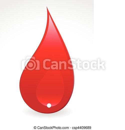abstrakt, droppe, blod - csp4409689