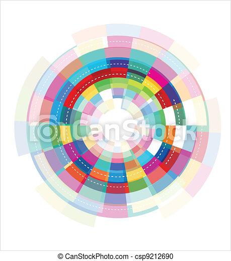 abstrakt, färgrik, mall - csp9212690