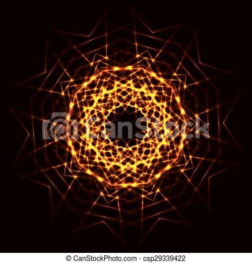 abstrakt, feuerball, kosmisch