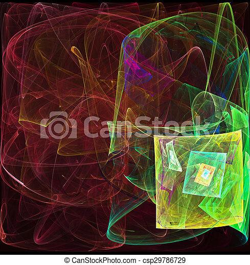 abstrakt, fractal, hintergrund - csp29786729