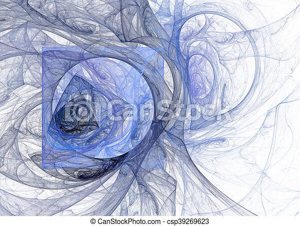 abstrakt, fractal, hintergrund, technologisch - csp39269623