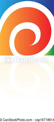 abstrakt, fyrkant, rektangulär, ikon - csp16718614