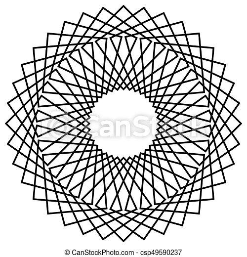 Abstrakt, gegenstand, form, mandala, spirally, geometrisch Vektoren ...