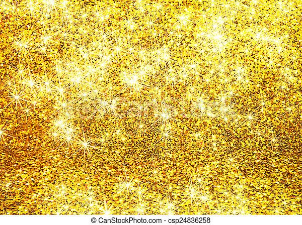 abstrakt, glitter, guld, bakgrund - csp24836258
