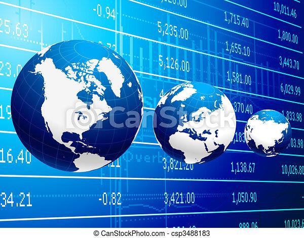 abstrakt, globale, baggrund, firma, økonomi - csp3488183