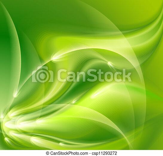 abstrakt, grüner hintergrund - csp11293272