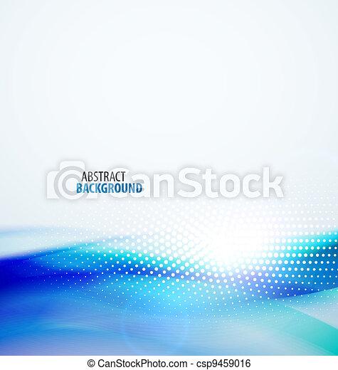 abstrakt, hintergrund, welle - csp9459016