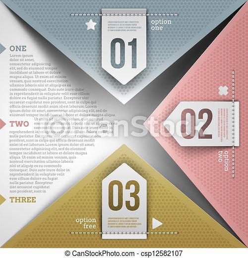 abstrakt, infographic, design - csp12582107