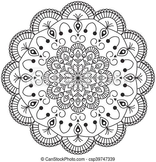 Abstrakt, mandala, design.