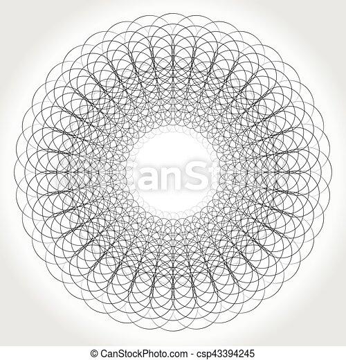 Abstrakt, mandala, geometrisch, kreisförmig.