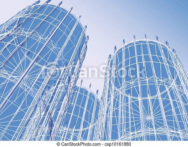 Abstrakte moderne Architektur - csp10161880