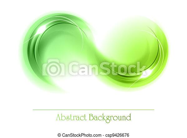 abstrakt, objekt, grön - csp9426676