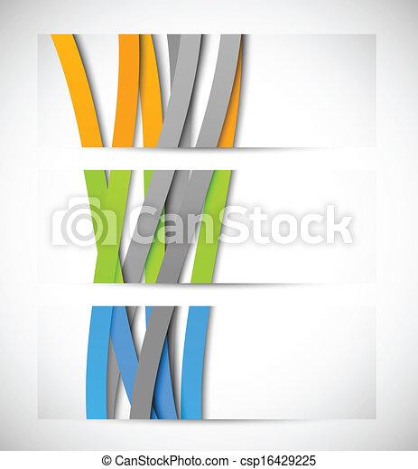 abstrakt, satz, banner - csp16429225